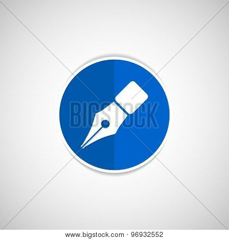Fountain pen icon pen business write symbol