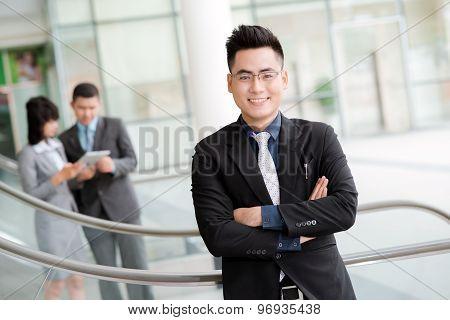 Confident Vietnamese Businessman