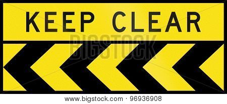 Chevron Alignment To The Left - Keep Clear In Australia