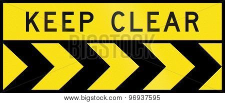 Chevron Alignment To The Right - Keep Clear In Australia