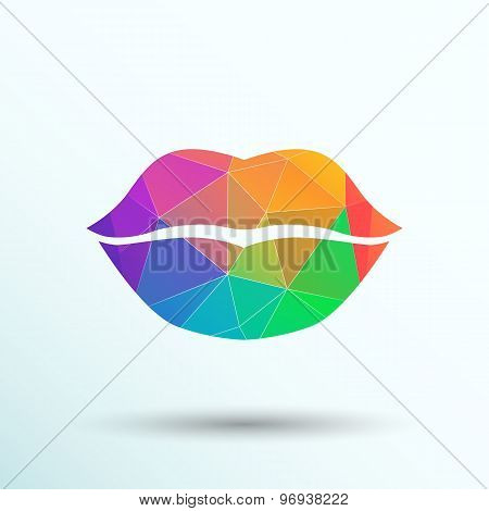 kiss lips vector lipstick icon passion symbol people female