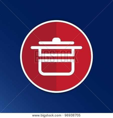 saucepan food menu kitchen soup pot vector design cooking