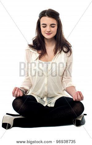Meditating Make Myself Relaxed.
