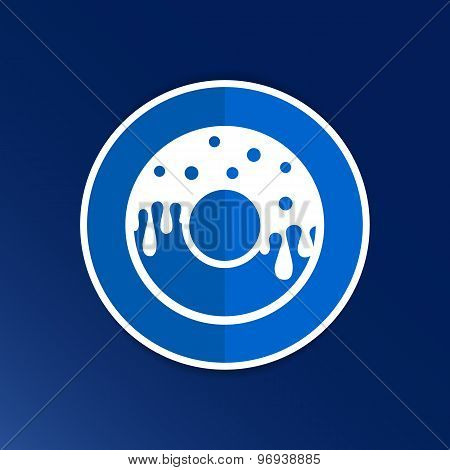 Donut sign Branding Identity Corporate vector logo design.