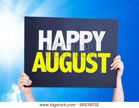 Happy August card with a beautiful day
