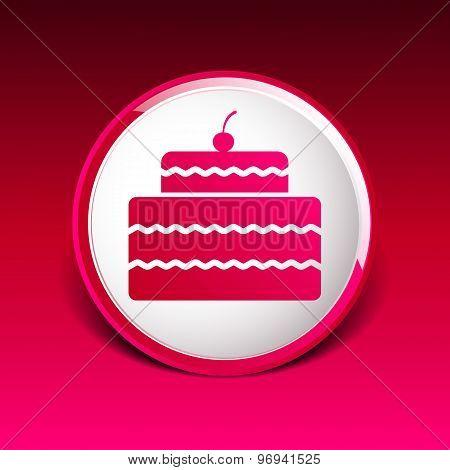 Cake Design symbol logo dessert food sweet