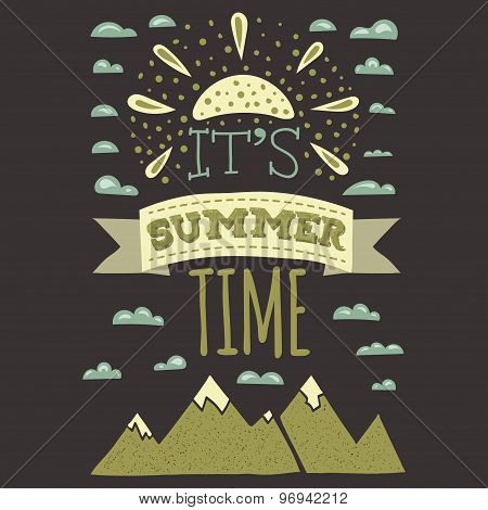 It is summer time typographics print designs in Vintage Style
