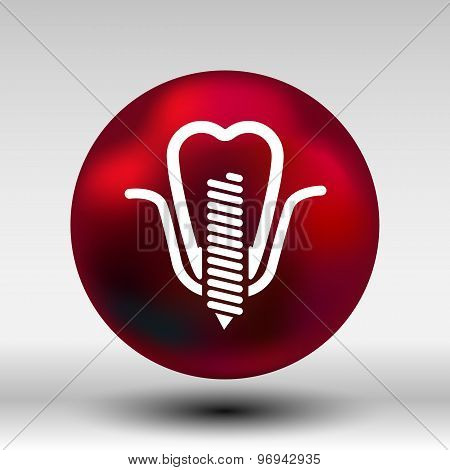 screwed false tooth icon anatomy beauty brightly care