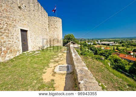 View From Benkovac Fortress On Dalmatian Inland