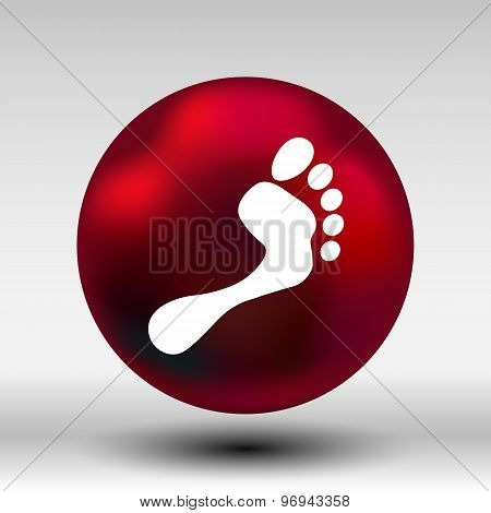 foot vector icon human footprint logo symbol