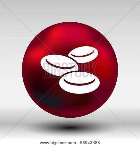 isolated macro of group erythrocytes corpuscles icon
