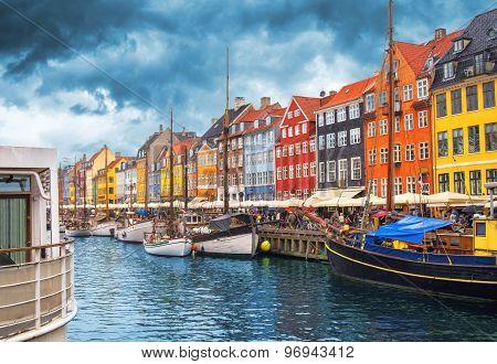 Copenhagen Nyhavn Harbor