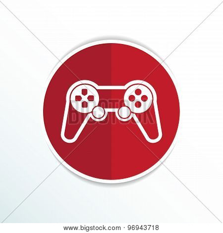 joystick icon Rounded squares button console controller.