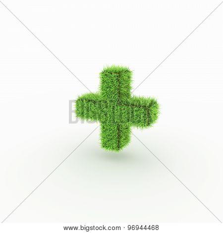 Green Icon - plus, add
