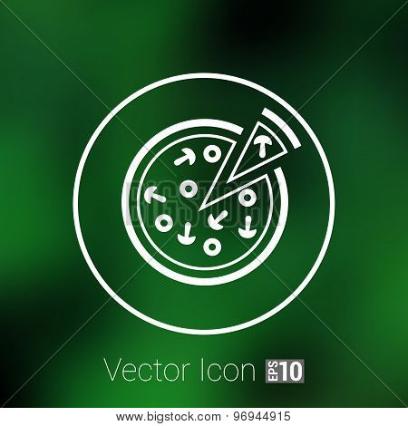 handmade pizza illustration logo concept vector food