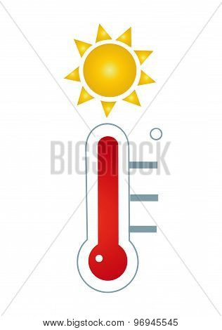 Thermometer icon vector illustration art on white background