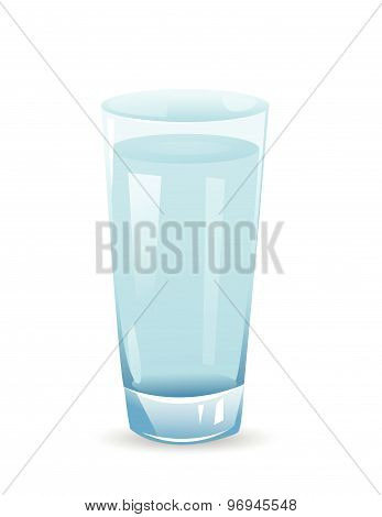 glass with water isolated illustration on white background