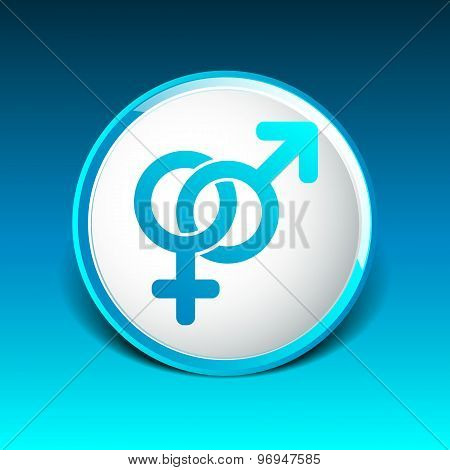 Male and female signs isolated on white background