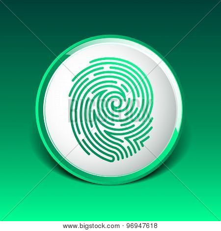 Fingerprint icon finger print vector id theft macro stamp