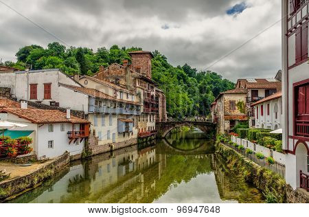 Saint-Jean-Pied-de-Port in the Basque region of France.