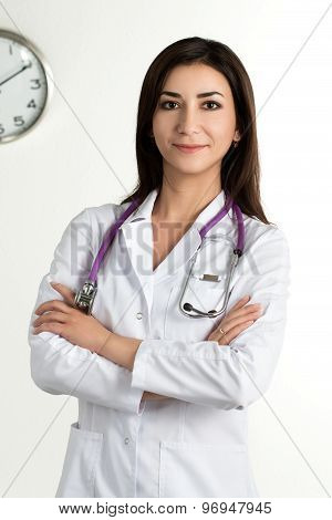 Beautiful Smiling Female Medicine Doctor