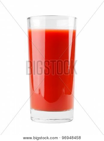 Tomato juice of glass