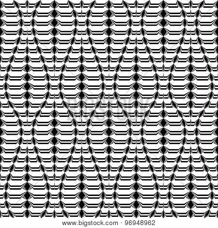 Design Seamless Monochrome Twisting Pattern