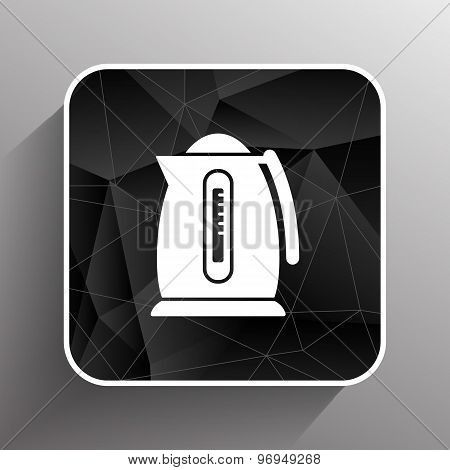 Electric kettle icon kitchen vector preparation illustration