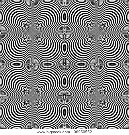 Design Seamless Monochrome Cone Illusion Background