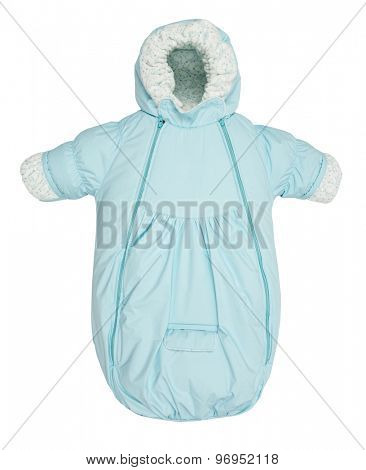 Baby snowsuit Coat bag on a white background
