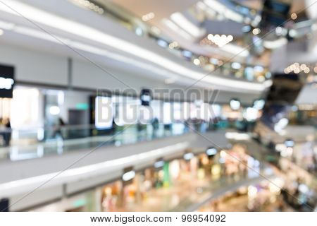Blur store with bokeh background