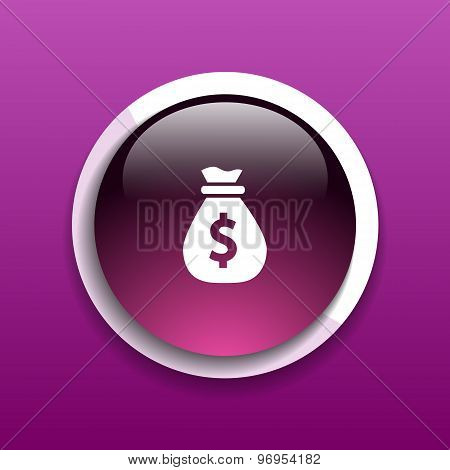 Vector money bags edit layers icon funds buy