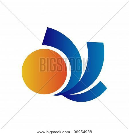 Travel vector Sun logo design template