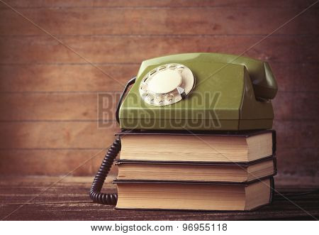 Dial Phone Over A Books