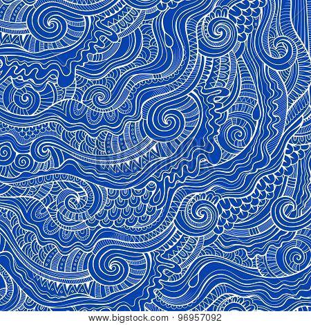 Vintage abstract doodles decorative ornamental  background