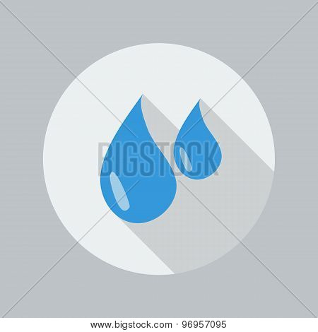 Eco Flat Icon. Water Drop