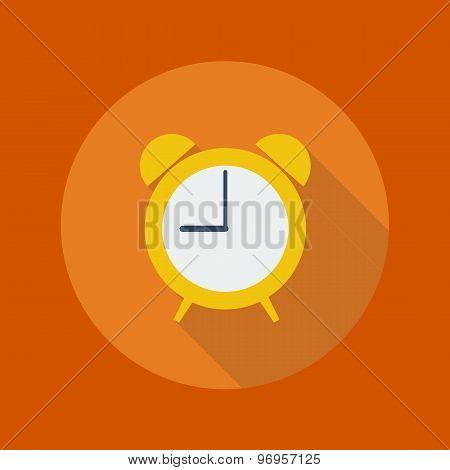 Education Flat Icon. Clock