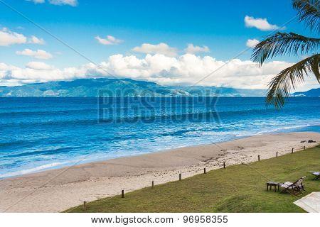 Beach in Caraguatatuba in Sao Paulo, Brazil