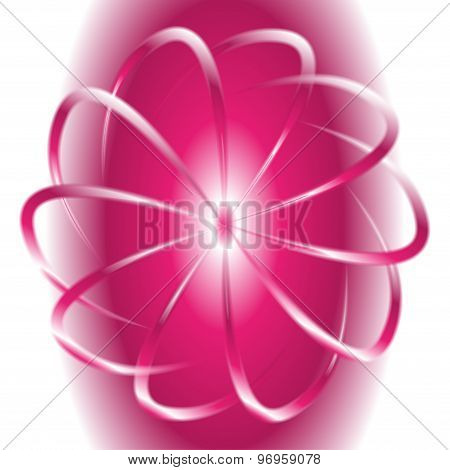 White and pink circular motion background
