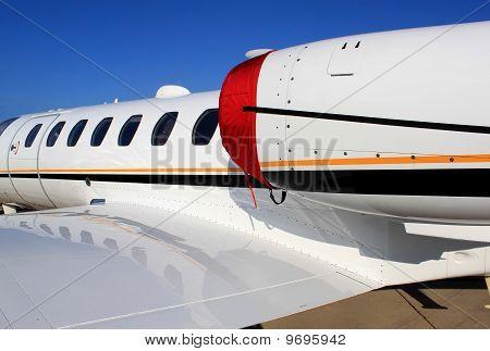 Business Jet Close Up