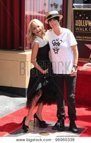 LOS ANGELES - JUL 24:  Kristin Chenoweth, Diane Warren at the Kristin Chenoweth Hollywood Walk of Fame Star Ceremony at the Hollywood Blvd on July 24, 2015 in Los Angeles, CA