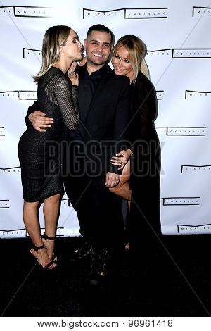 LOS ANGELES - JUL 23:  Shannon Bex, Michael Costello, Aubrey O'Day at the Michael Costello And Style PR Capsule Collection Launch Party  at the Private Location on July 23, 2015 in Los Angeles, CA