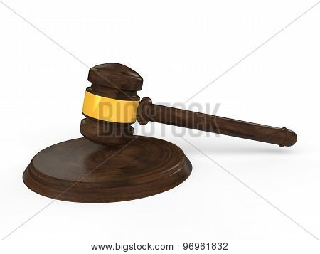 3d Justice Gavel