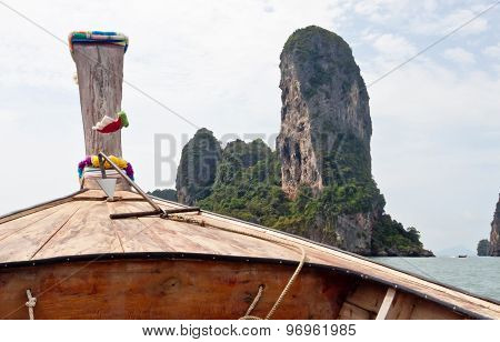 Railay Beach (krabi, Thailand). Picture Made From Longtail Boat
