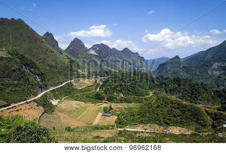 Mountain road in Vietnam