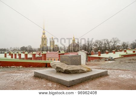Monument to Petropavloskaya fortress