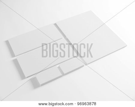 Blank template for branding identity on white background.