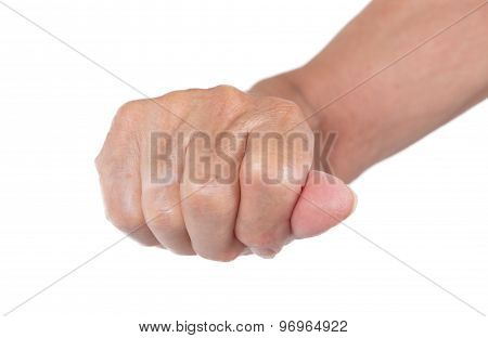 Hand Of An Old Woman