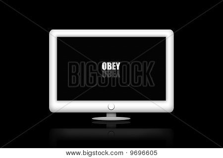 TV monitor screen