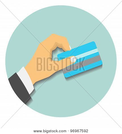Hand hold credit card